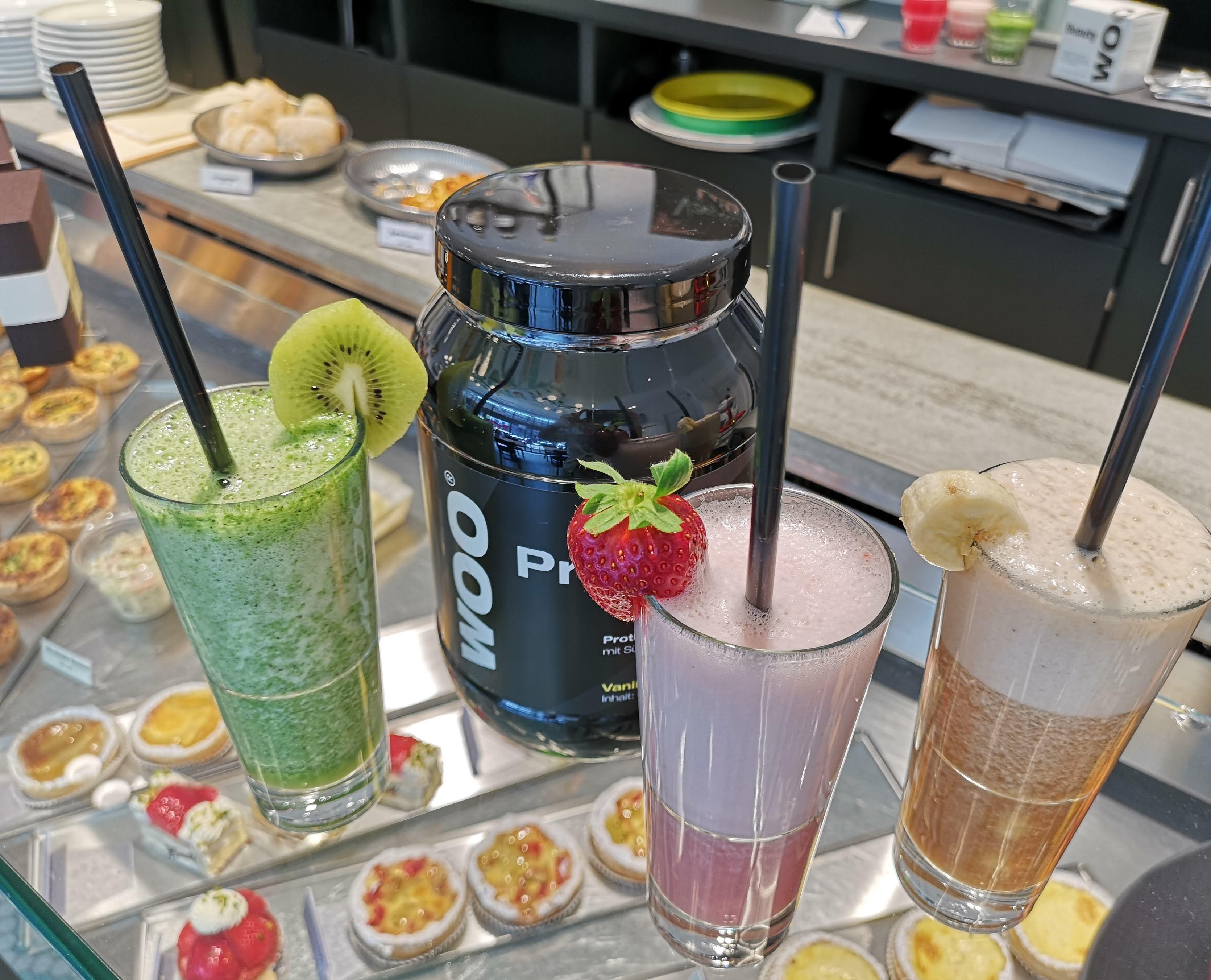 Protein-Smoothies im Café Medici